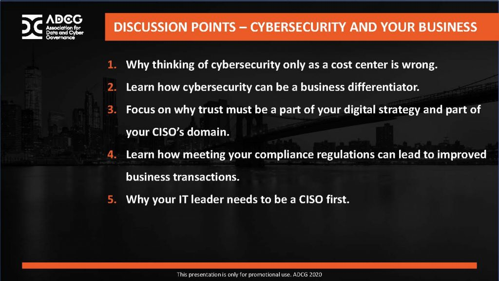 Learning Objectives for Cybersecurity and Your Business