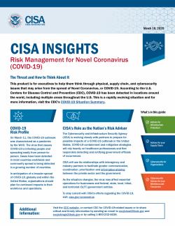 Risk Management For Novel Coronavirus